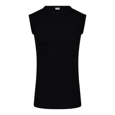 Heren mouwloos shirt met ronde hals M3000 Zwart