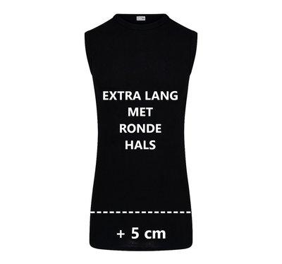Extra lang heren mouwloos shirt Beeren Zwart M3000