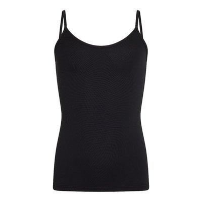 Meisjes spaghetti hemd Elegance Zwart (Microvezel)