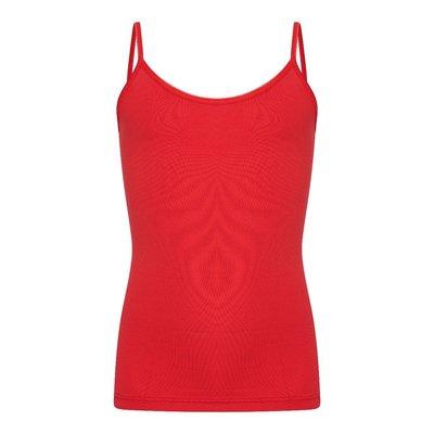 Meisjes spaghetti hemd Elegance Rood (Microvezel)