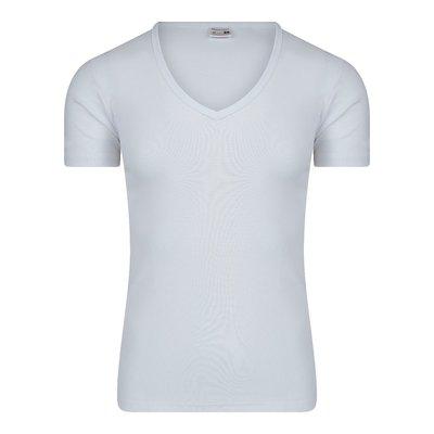Heren T-shirt met Diepe V-hals M3000 Wit