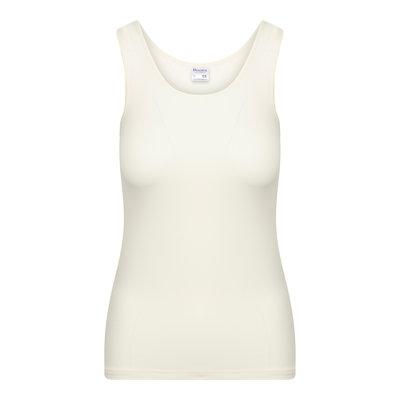 Dames hemd met breed bandje Elegance Ivoor