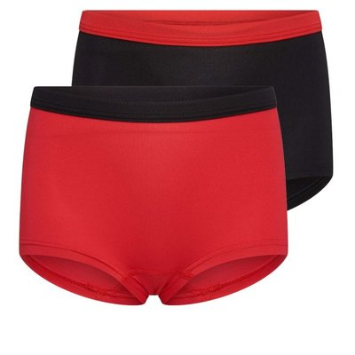 2-Pack Mix&Match Meisjes boxers Rood/Zwart