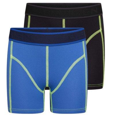 2-Pack Mix&Match Jongens boxershorts uni Blauw/Zwart