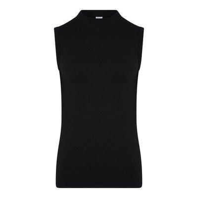 Heren mouwloos shirt Comfort Feeling Zwart 95% katoen 5% elast