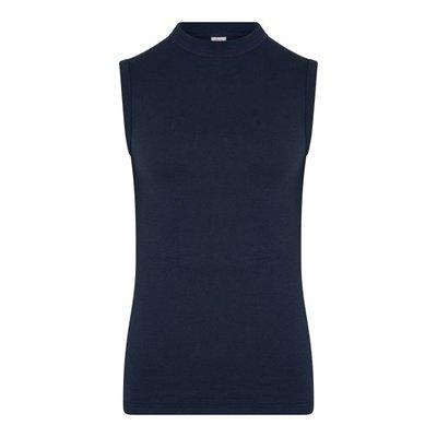 Heren mouwloos shirt Comfort Feeling Marine 95% katoen 5% elast
