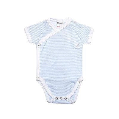 Baby overslag rompertje blauw streep