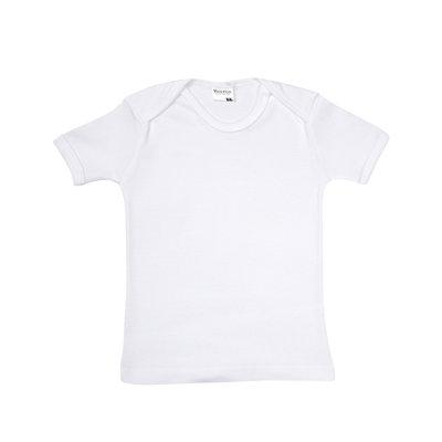 Baby beeren ondergoed T-shirt korte mouw. wit