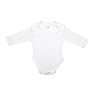 Baby romper met lange mouw M3000 Wit