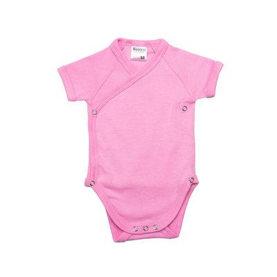 Baby overslag romper Prisma Pink