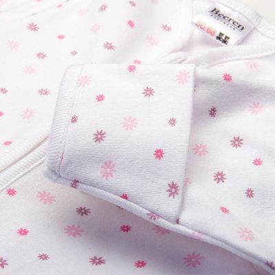 Baby beeren ondergoed slaapzak wit/rose foam