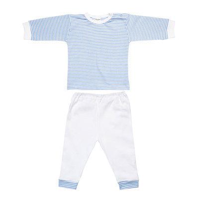 Baby Pyjama brede blauw streep