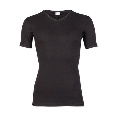 Heren T-shirt met V-hals en korte mouw Beeren Zwart