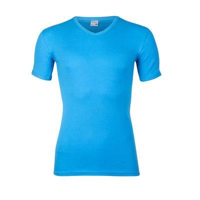 Heren T-shirt met V-hals en korte mouw Beeren Bleu