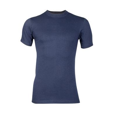 Heren T-shirt korte mouw Comfort Feeling Marine 95% katoen 5% elast