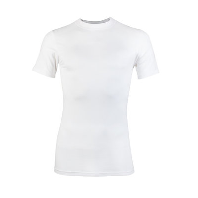 Heren T-shirt korte mouw Comfort feeling Wit