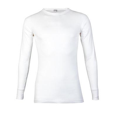 Heren T-shirt met ronde hals en lange mouw Beeren Wit M3000