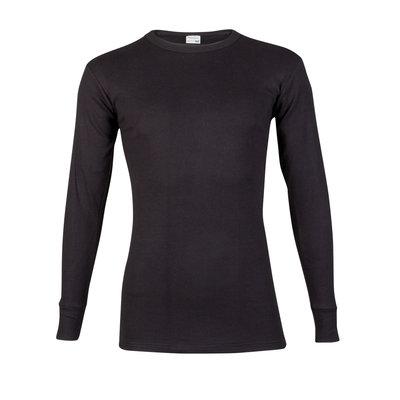 Heren T-shirt met ronde hals en lange mouw Beeren Zwart M3000