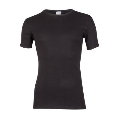 Heren T-shirt met ronde hals en korte mouw Beeren Zwart