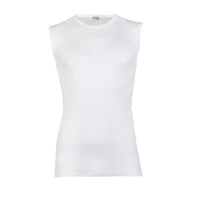 Heren mouwloos shirt met ronde hals Beeren Wit