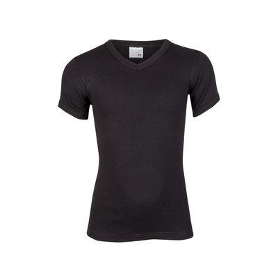 Jongens T-shirt V-hals Beeren Zwart