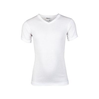 Jongens T-shirt V-hals Beeren Wit