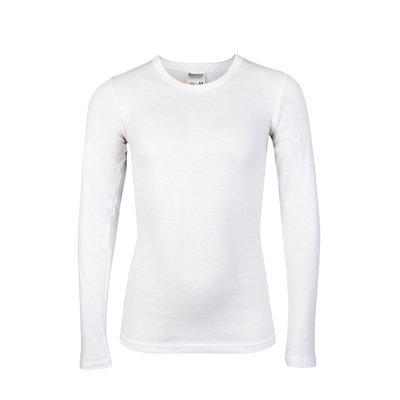 Jongens T-shirt lange mouw Beeren Wit