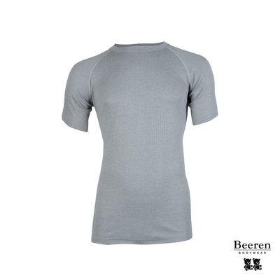 Unisex beeren ondergoed hemd korte mouw thermo grijs