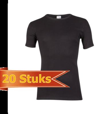Heren beeren T-shirt korte mouw zwart ( 20 stuks )