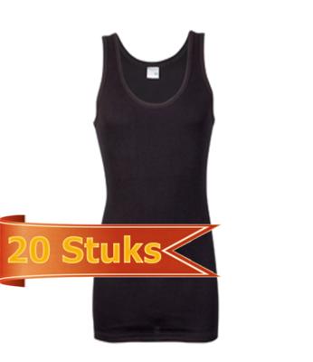 Heren singlet Beeren Zwart (20 stuks) M3000