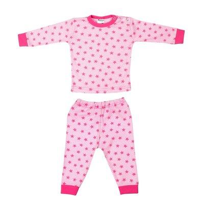 Baby Pyjama streep ster Roze