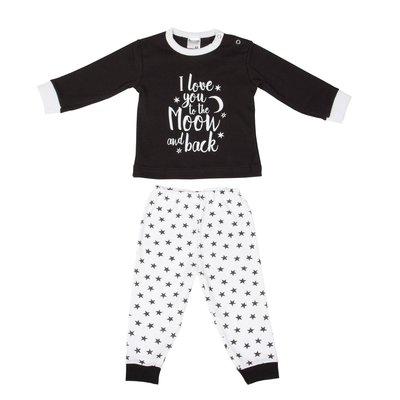 Beeren Baby pyjama Love You Zwart