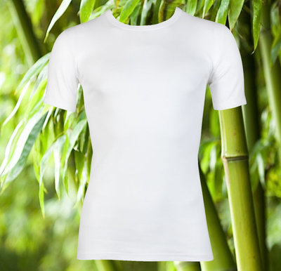Bamboe heren T-shirt K.M. Wit