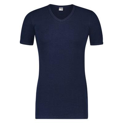 Extra lang heren T-shirt met V-hals Beeren Marine M3000