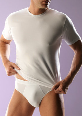 RJ bodywear Heren T-shirt v-hals wit