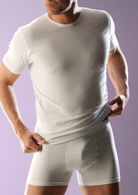 RJ bodywear Heren T-shirt wit