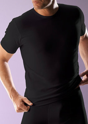 RJ bodywear Heren T-shirt zwart