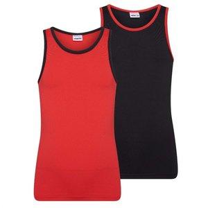 2-Pack Mix&Match Meisjes hemd Rood/Zwart