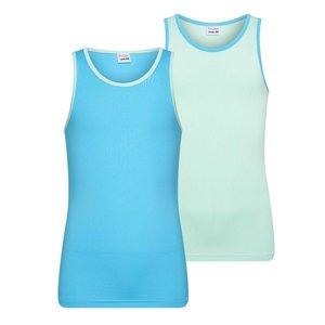 2-Pack Mix&Match Meisjes hemd Mint/Turqouise