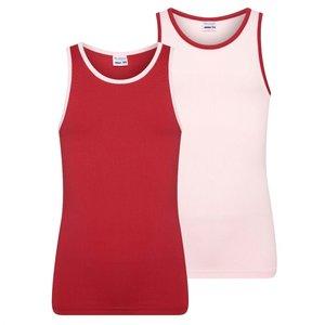 2-Pack Mix&Match Meisjes hemd L.Roze/D.Rood