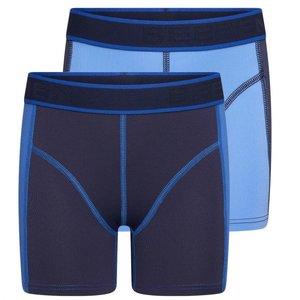 2-Pack Mix&Match Jongens boxershorts Blauw/D.Blauw