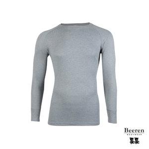 Unisex beeren ondergoed hemd lange mouw Thermo grijs