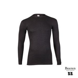 b941a38ea0b Heren thermo hemd lange mouw Zwart - Beeren Ondergoed
