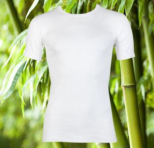 Bamboe heren T-shirt K.M. Wit