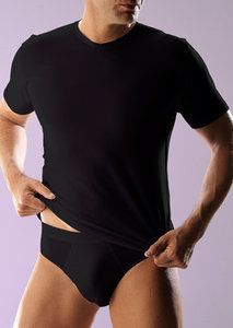 RJ bodywear HerenT-shirt  v-hals zwart